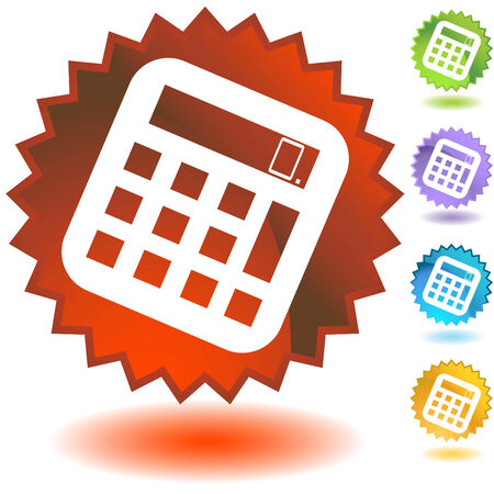 education badge math Stock Vector - 5267089