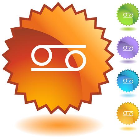 Cancer zodiac badge Stock Vector - 5267084