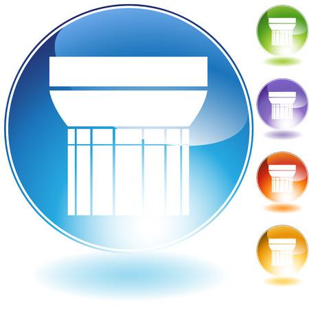 doric: cristal de columna d�rica de griego