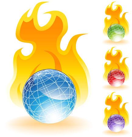 Burning World Stock Vector - 5267036