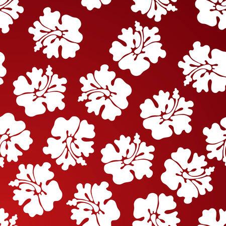 beautiful red hibiscus flower: tropical rojo de impresi�n floral
