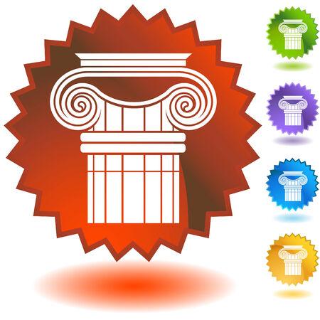 pilastri: ionico di colonna greca badge