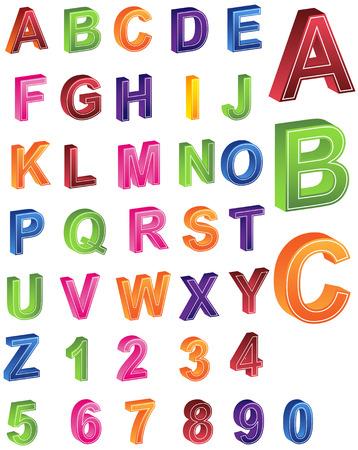 Alphabet Numbers Vector