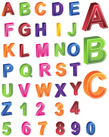fonts vector: Alphabet Numbers