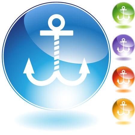 anchor crystal set Illusztráció
