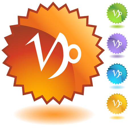 Capricorn zodiac badge Stock Vector - 5288221