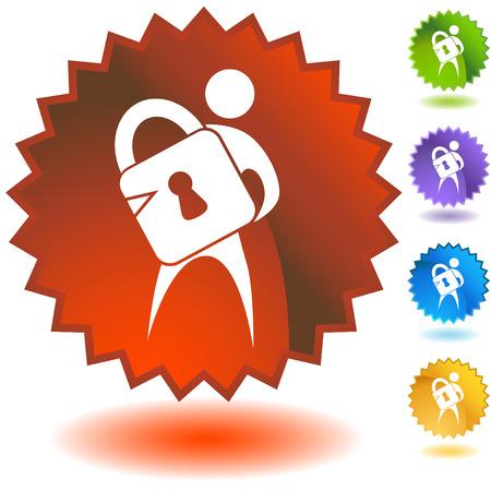 Lock Man Stock Vector - 5288228