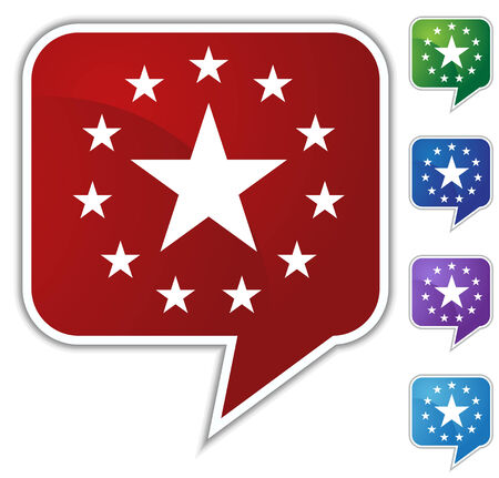 star speech bubble Vector