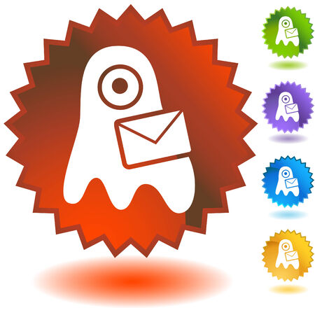 virus email badge one Stock Vector - 5288226