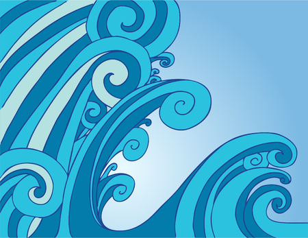 Blue Tsunami Wave