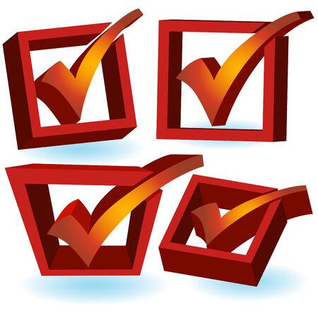 Liste de vérification icône ensemble Banque d'images - 5292935