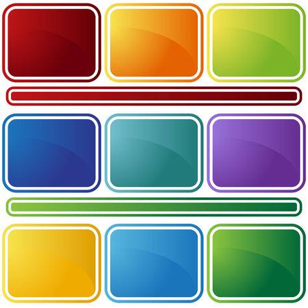 bevel: bevel icon set Illustration