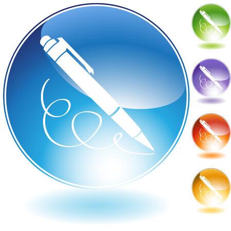 ballpoint: ballpoint pen icon crystal