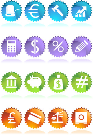 financial buttons Vector