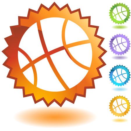 basketball badge Vector