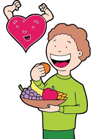 children eating fruit: healthy eating