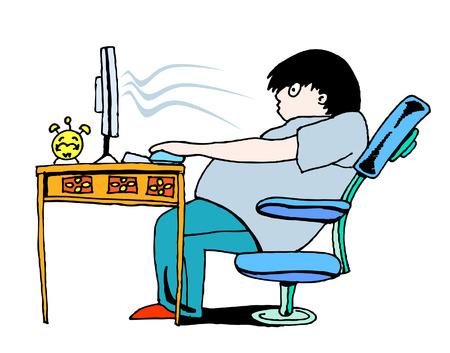 ersch�pft: Computer sucht