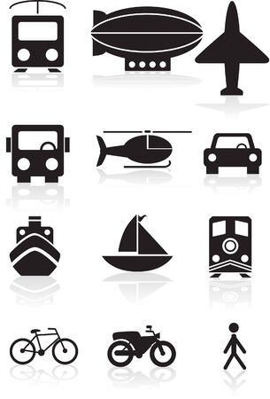 blimp: Travel Black Illustration