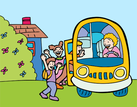 bus van de school Stock Illustratie