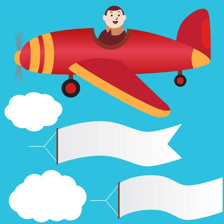 pilot banner set Vector