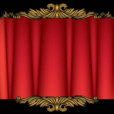 Rideau de théâtre Banque d'images - 5326220