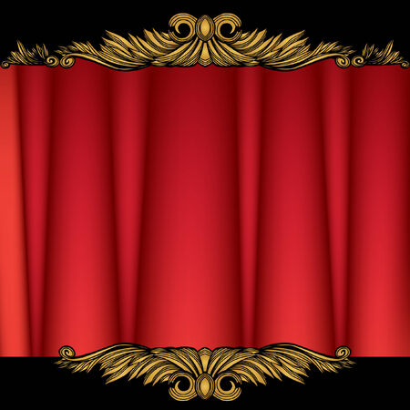 stage curtain Stock Vector - 5326220