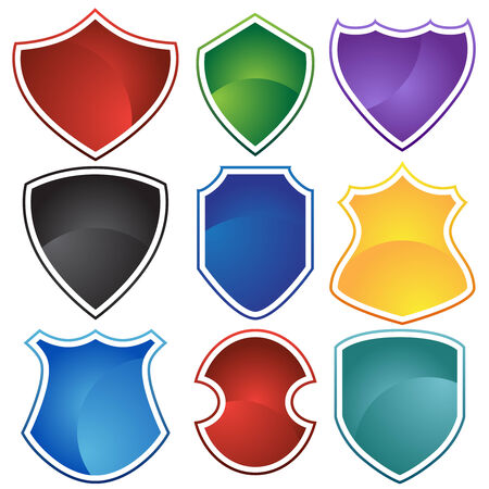 shield set Stock Vector - 5326208