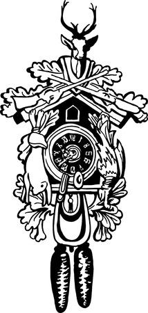 reloj cucu: Cuckoo Clock  Vectores