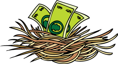 cartoon money: nest egg Illustration
