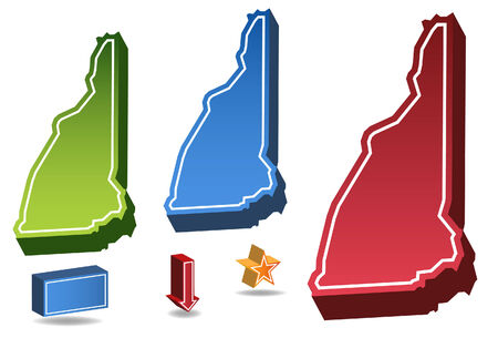 New Hampshire State Vector