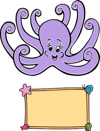 octopus sign Illustration