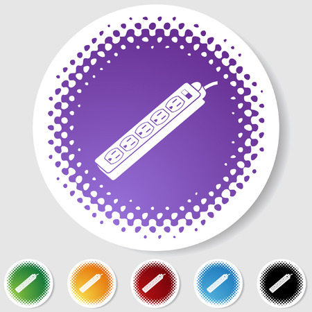 power strip outlet icon halftone
