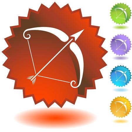 zodiac badge sagittarius Vector