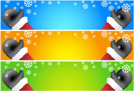 Santa Banner Black Stock Illustratie