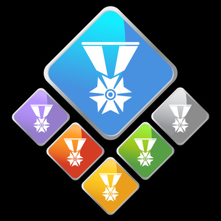 military medal icon diamond Vector