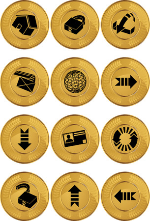 Browser Icon Set Coin