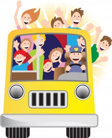 サンシャイン バス  イラスト・ベクター素材