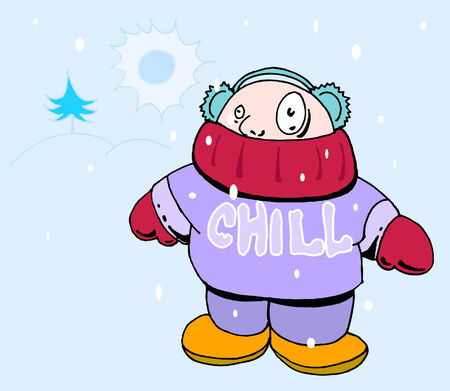 muffs: cold man Vettoriali