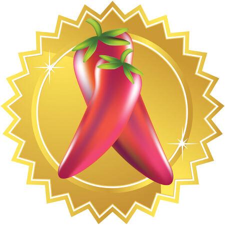 Pepper ster Stock Illustratie