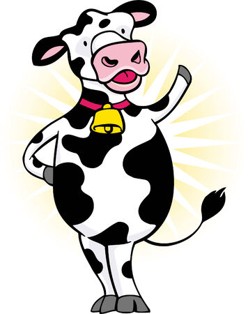 cow cartoon: Cartoon Cow
