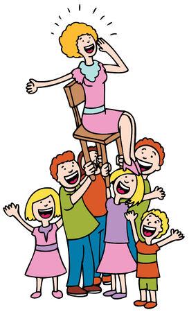 Hooray for Mom Иллюстрация