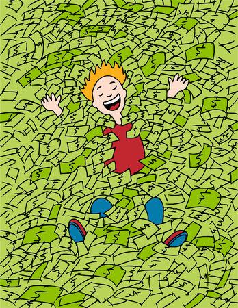 Money Bath Ilustracja