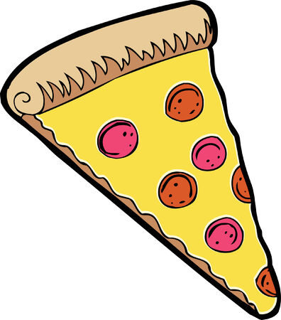 pepperoni: pizza Illustration
