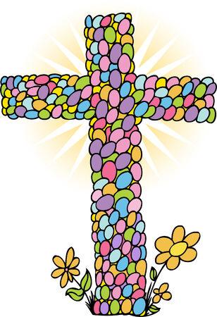 easter cross: Easter Egg Cross