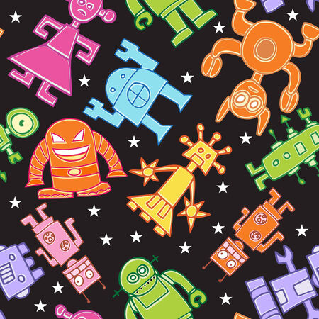 Robot Pattern Stock Vector - 5327452