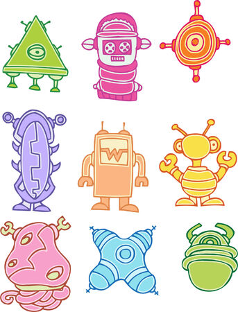 robot aliens Stock Vector - 5327442
