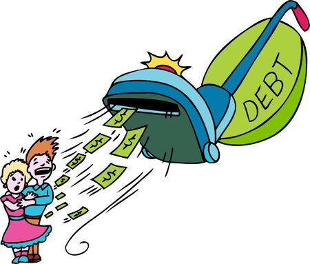 Debt Vacuum  イラスト・ベクター素材