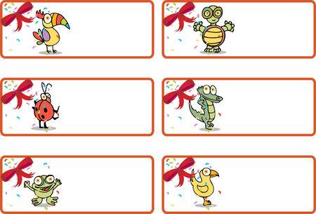 christmas frog:  animal label