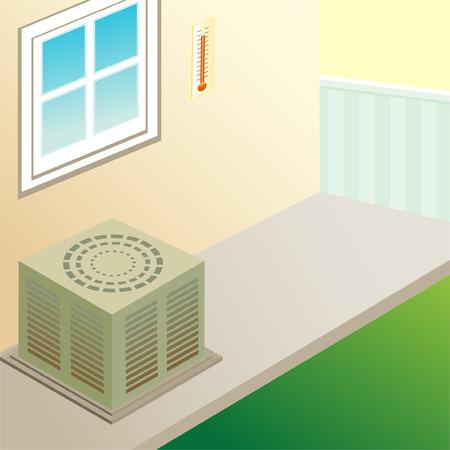 air conditioner: outdoor air conditioner