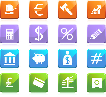 banking square set Vector